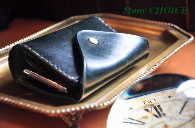 革の宝石・ルガトー・コインキャッチャー財布(緑)の画像1枚目