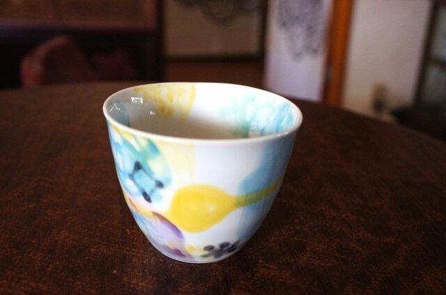 水彩カップ蕎麦猪口 infc14018-005の画像1枚目