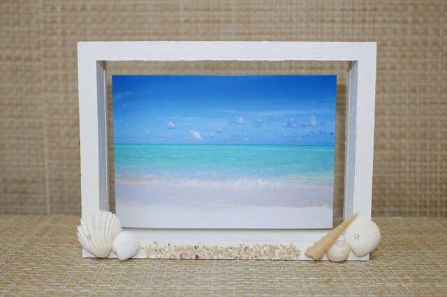 砂浜のフォトフレームの画像1枚目