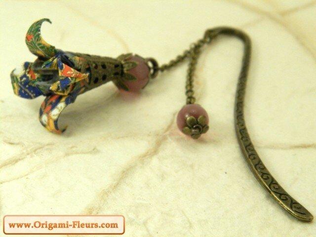 オリガミブックマーカー華・菖蒲(Iris Y07MPI3KBr)の画像1枚目