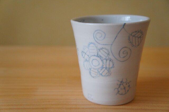 ブルー象嵌フリーカップの画像1枚目
