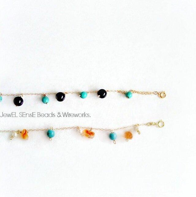 turquoise × onyx blaceletsの画像1枚目