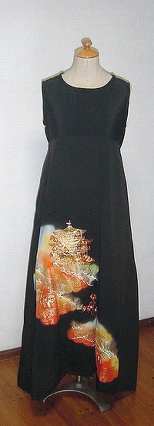 金閣寺が素敵な留袖チュニックワンピース★裾変形の画像1枚目
