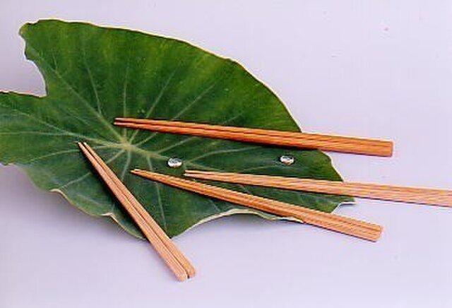 竹・自然塗料箸 01-24 クリア 大きめサイズの画像1枚目