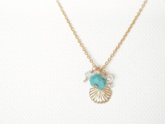 14KGF Mermaid Necklaceの画像1枚目