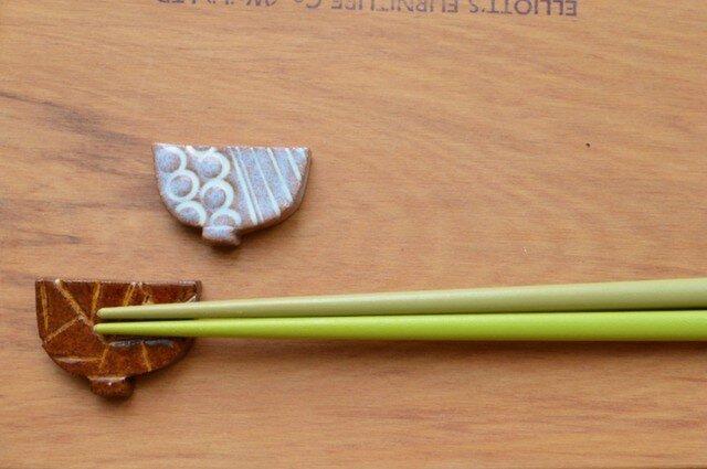 箸置き  お茶碗モチーフ2個セットの画像1枚目