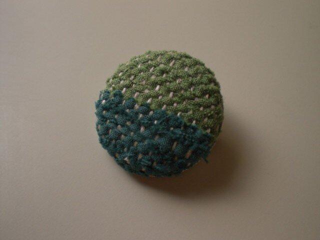 裂き織りブローチ『グリーン系2色』の画像1枚目