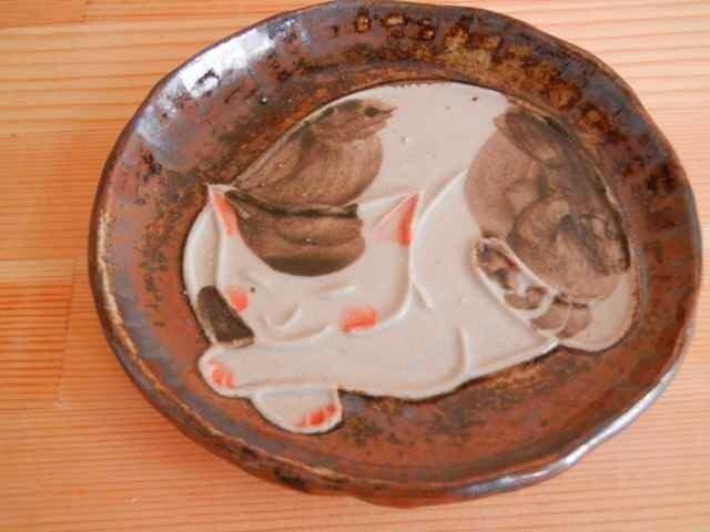 猫型押し小手皿:bの画像1枚目