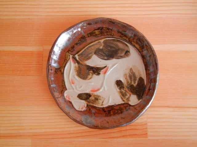 猫型押し小手皿:cの画像1枚目