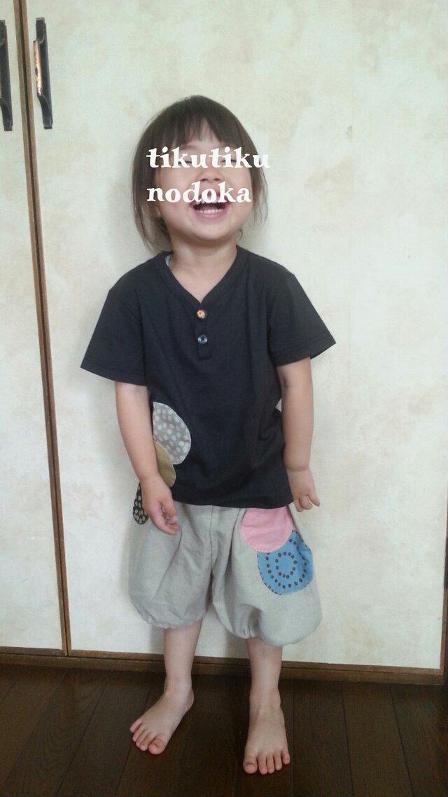 アップリケのかぼちゃパンツ&Tシャツsetの画像1枚目