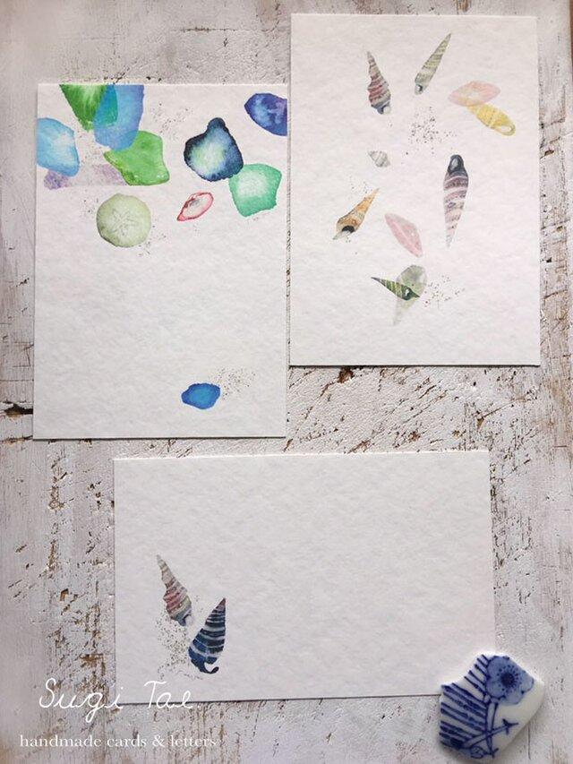 海がくれたもの*再販 〜貝殻のカードの画像1枚目