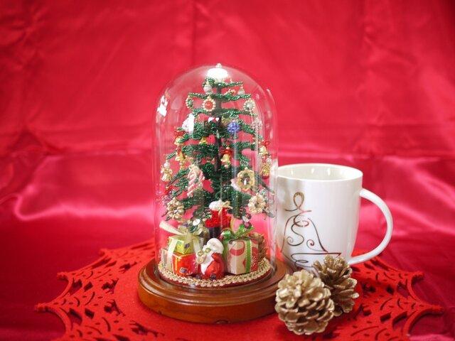 ビーズのクリスマスツリー(グリーン)サイズ(M)の画像1枚目