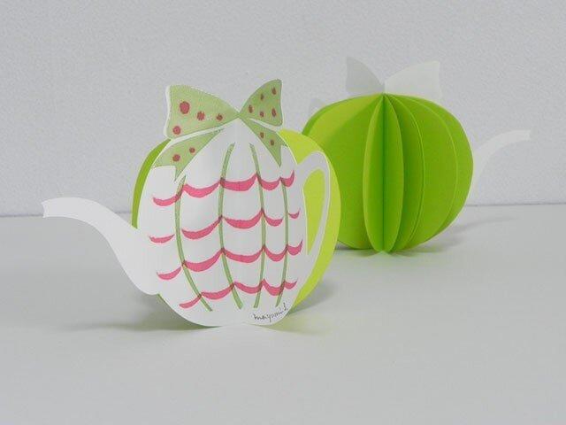 Tea Potのミニメモ帳(green)の画像1枚目