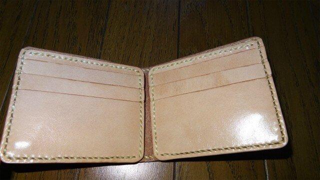 革の最小二つ折り財布(再掲載)の画像1枚目