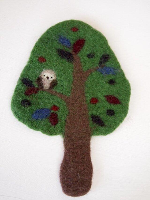 Pot Mat 木のフクロウの画像1枚目