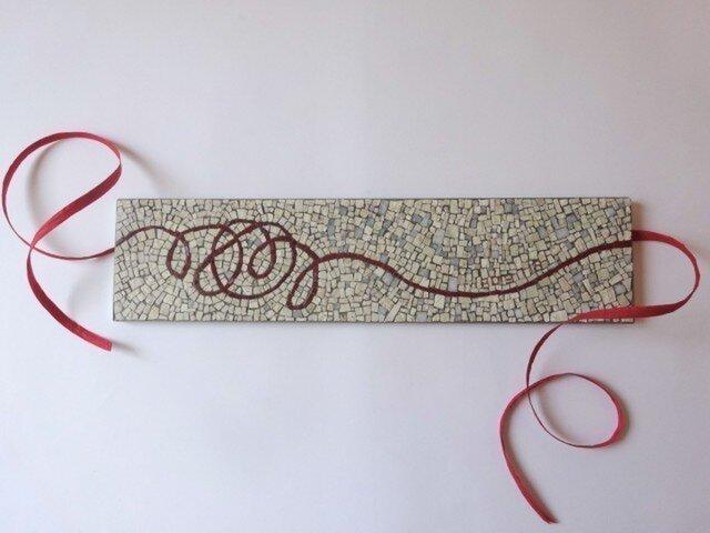 (受注制作)アニバーサリープレート 赤い糸の画像1枚目