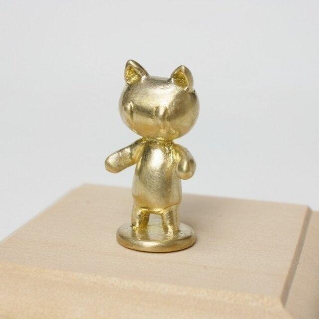 ネコのオブジェ ポーン ブラス・マットの画像1枚目