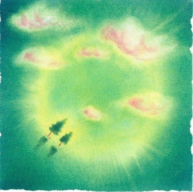 『雲間』(パステルアート)の画像1枚目