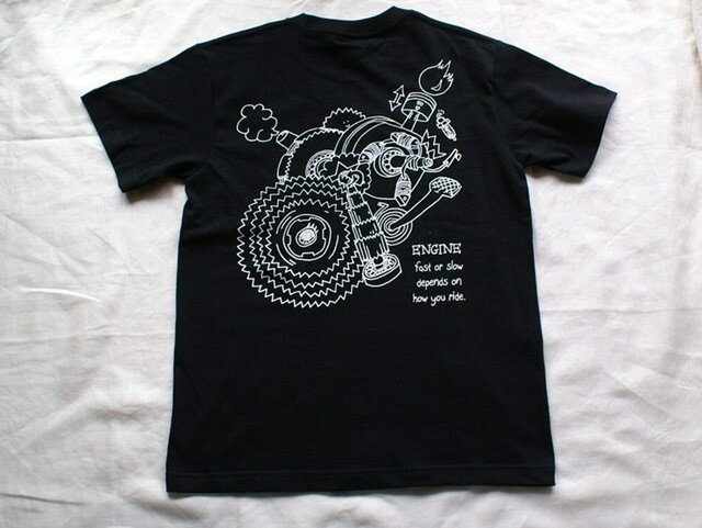 T-シャツ <ENGINE> 黒  Mサイズの画像1枚目