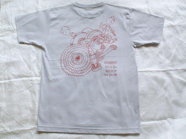T-シャツ <ENGINE> グレー  Lサイズの画像1枚目