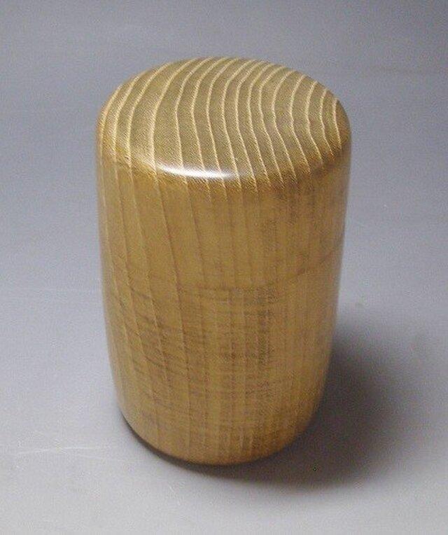 本桑縮み杢茶筒の画像1枚目