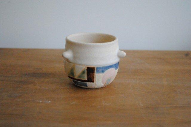 幾何学文様取っ手つきの小さなカップ(№89)の画像1枚目