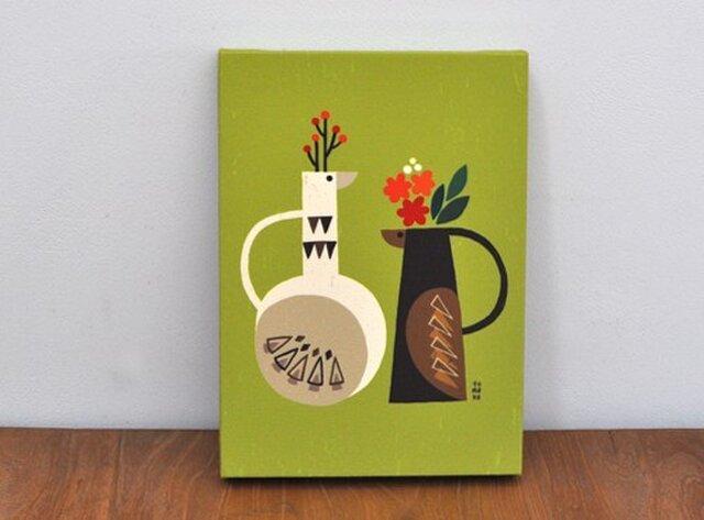 ファブリックパネル「Vase of bird」の画像1枚目
