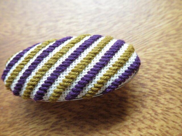 こぎん帯留め - 紫×黄 -の画像1枚目