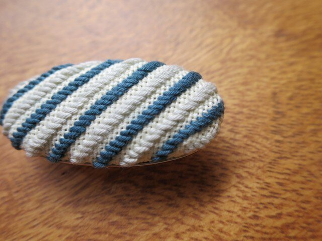 こぎん帯留め - 青緑×水色 -の画像1枚目