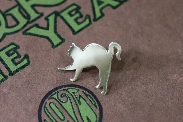 シルバーピンブローチ Cat-3-2-pinの画像1枚目