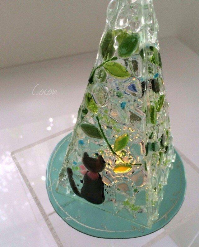 【オーダー制作】LEDキャンドルのミニランプ(森の小道)の画像1枚目