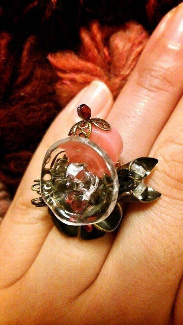 【一点物】ヴィンテージ フランスボタンのデザインリングの画像1枚目