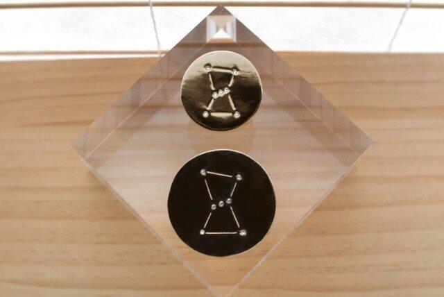 オリオン座のブローチ (L)(18金+真鍮)の画像1枚目