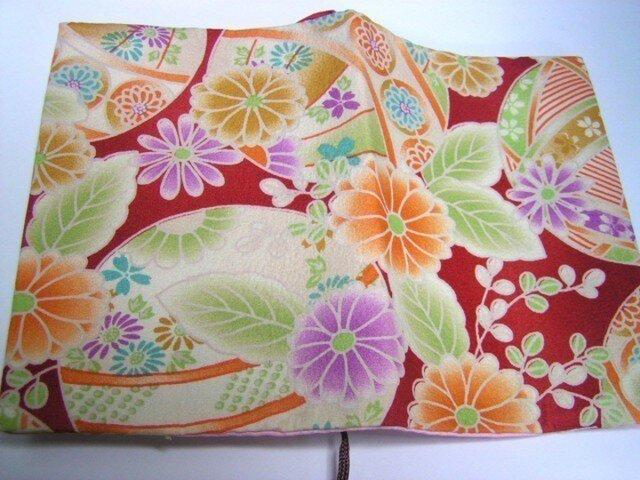 和布 ブックカバー 絹の裏付きの画像1枚目
