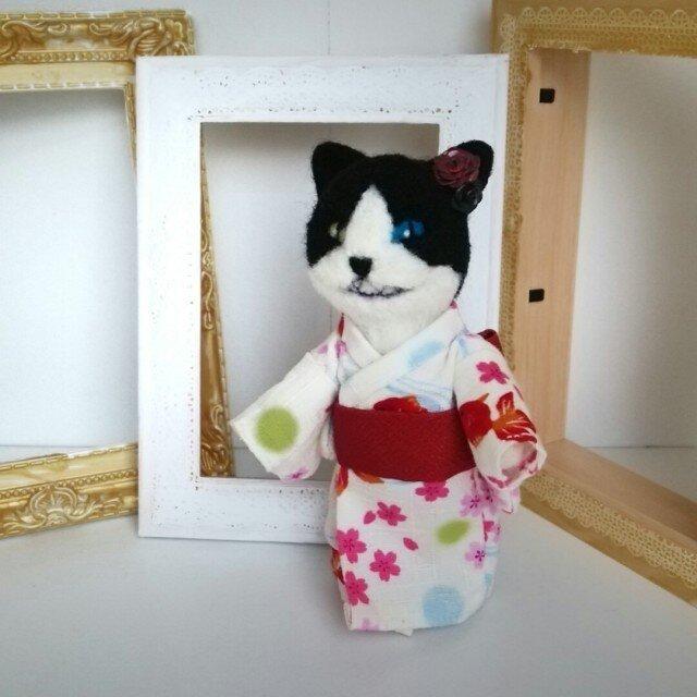 羊毛♪ハチワレ♪猫又の画像1枚目