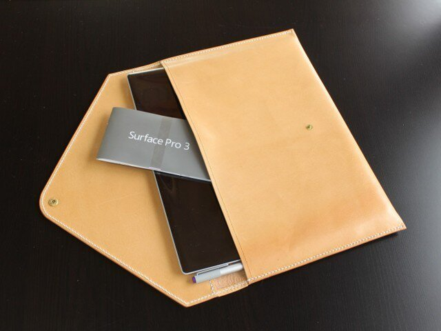 サーフェスプロ3用 本革ケース(手縫い)の画像1枚目