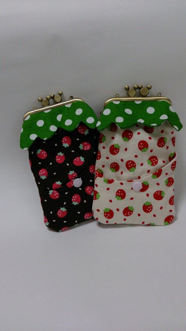 smart phone case (fraise white)の画像1枚目