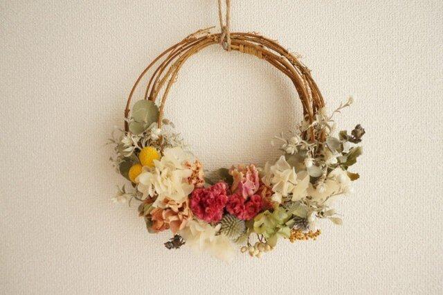 芍薬 けいとう wreathの画像1枚目