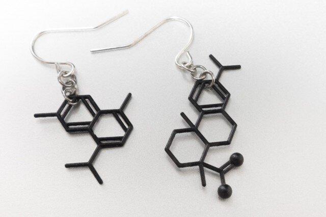 琥珀の分子ピアス:Dセットの画像1枚目