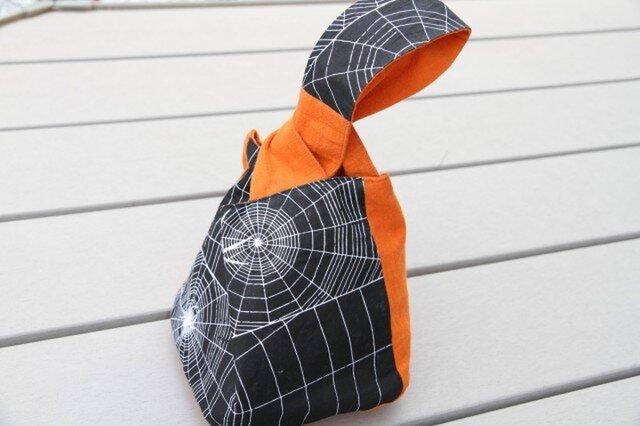 手ぬぐい蜘蛛の糸の手提げ袋の画像1枚目