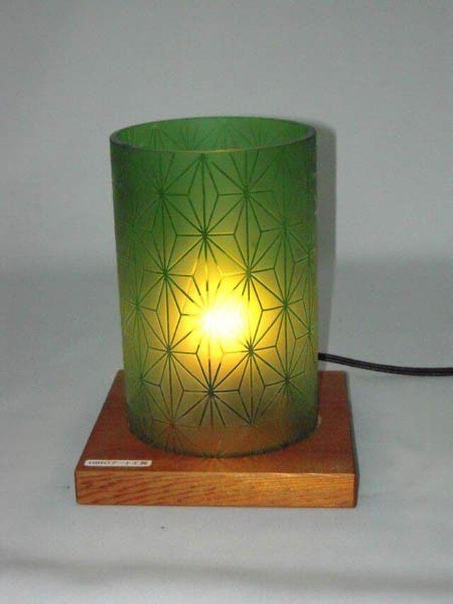 空き瓶ランプシェード「麻の葉」の画像1枚目