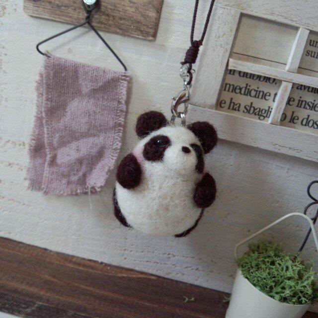 ぷっくりパンダ/ストラップ(1)の画像1枚目
