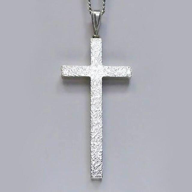 シンプルなラテン十字架 梨地光沢仕上げの縦長のラテン十字架 cc12 好評ですの画像1枚目
