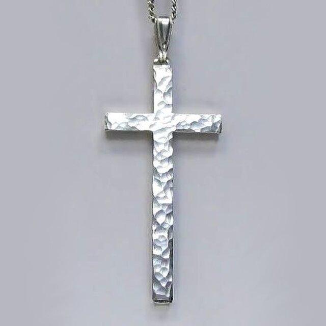 シンプルなラテン十字架 槌目光沢仕上げの縦長のラテン十字架 cc13 好評ですの画像1枚目