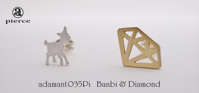 Banbi & Diamond ピアス【adamant】の画像1枚目