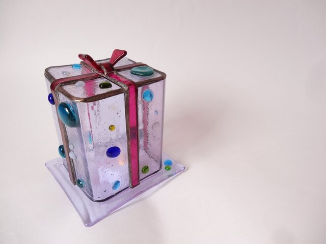 ステンドグラスの贈り物(ブルー)の画像1枚目