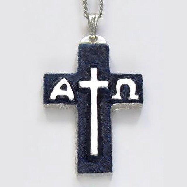 イエス・聖母マリア・教義・聖霊・使徒などを表した作品 イエスのモノグラムのクロス(A)ac91 好評ですの画像1枚目