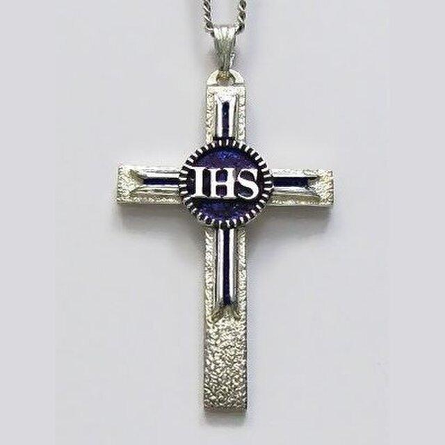 イエス・聖母マリア・教義・聖霊・使徒などを表した作品 イエスのモノグラムのクロス(B) ac92 好評ですの画像1枚目