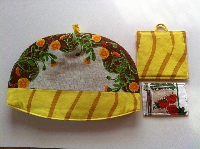 黄色い花のお茶セットの画像1枚目
