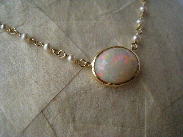 K10・K18   Opal Necklaceの画像1枚目